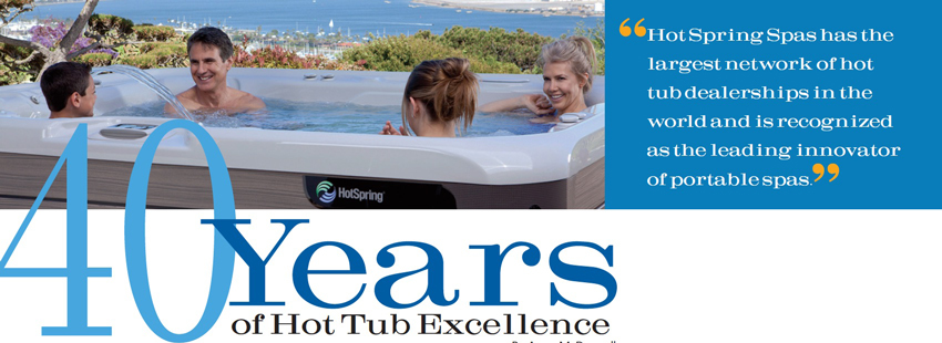 Watkins Wellness Recognized for 40 Years of Hot Tub Excellence
